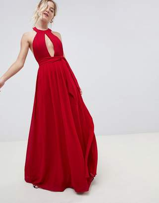 Glamorous maxi dress with keyhole detail