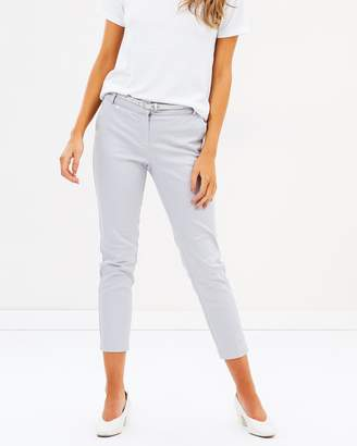 PETITE Cotton Belted Cigarette Trousers