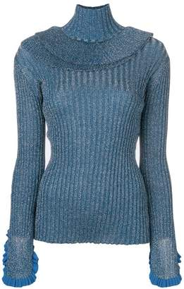 Chloé lurex knit turtleneck sweater