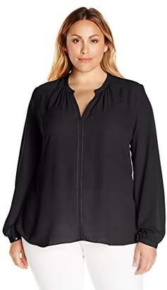 Single Dress Women's Plus Size Saddle Stitch Blouse $63.27 thestylecure.com