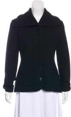 Ralph Lauren Black Label Wool and Angora Long-Sleeve Cardigan