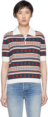 Carven Multicolor Fair Isle Polo