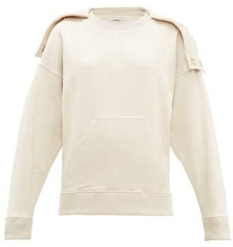 J.W.Anderson Oversized Press Stud Hood Cotton Sweatshirt - Womens - Beige