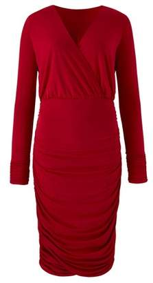 Next Womens Simply Be Curve Plunging Neckline Ruched Side Bodycon Dress