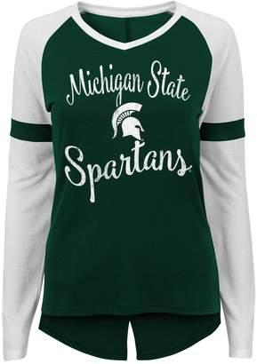 Juniors' Michigan State Spartans Split Back Raglan Tee