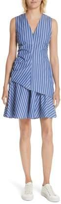 Derek Lam 10 Crosby Stripe Ruched Sheath Dress
