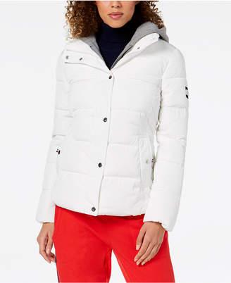 Tommy Hilfiger Knit-Hood Puffer Coat