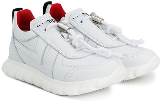 Bumper lace-up sneakers