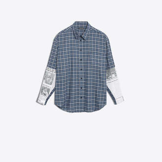 Balenciaga Cotton poplin shirt with patch applied at forearms