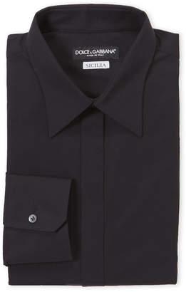 Dolce & Gabbana Solid Tone Sicilia Fit Dress Shirt