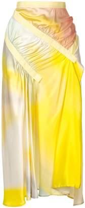 CHRISTOPHER ESBER printed ruched skirt
