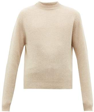 Lemaire Crew Neck Wool Sweater - Mens - Beige
