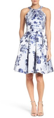 Women's Eliza J Floral Fit & Flare Dress $188 thestylecure.com