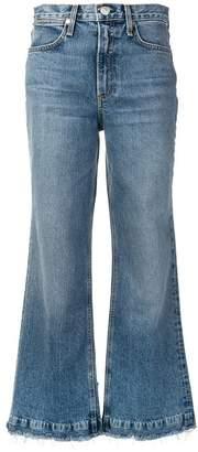 Rag & Bone frayed wide-leg jeans