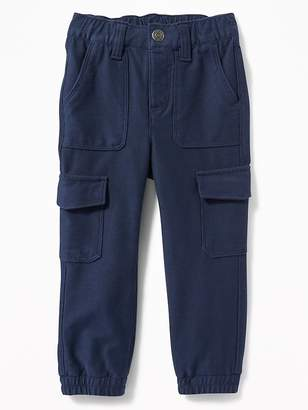 Old Navy French Terry Twill Built-In Flex Cargo Joggers for Toddler Boys