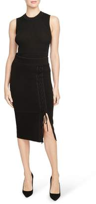 Rachel Roy COLLECTION Ribbed Lace-Up Pencil Skirt