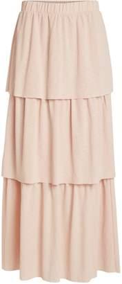 Dorothy Perkins Womens **Vila Pink Tiered Hem Maxi Skirt