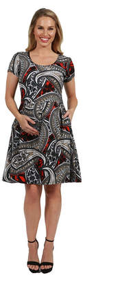 24/7 Comfort Apparel 24Seven Comfort Apparel Ellie Empire Waist Maternity Mini Dress
