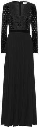 Self-Portrait Self Portrait Crystal embellished velvet dress