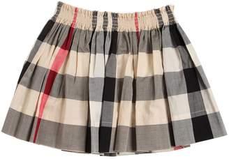 Burberry Check Cotton Muslin Skirt