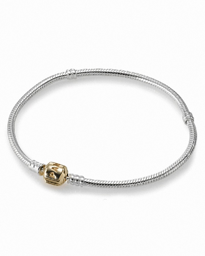 Pandora Bracelet - Sterling Silver with 14K Gold Signature Clasp, Moments Collection