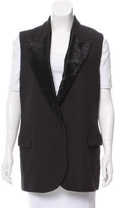 Lanvin Textured Single-Closure Vest