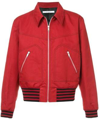 Givenchy Garbadine zipped blousond jacket