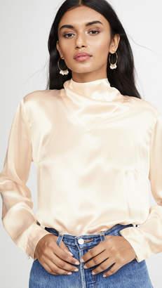 Le Kasha Long Sleeve Blouse Neck Detail