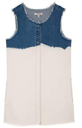Joe's Jeans Fray Bleach Denim Shift Dress