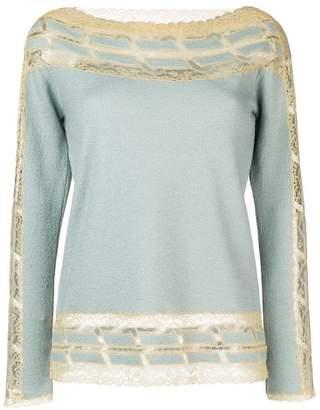 Ermanno Scervino lace panel sweater
