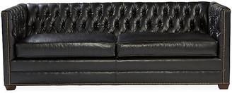 Michael Thomas Collection Ames Tuxedo Sofa - Black Leather