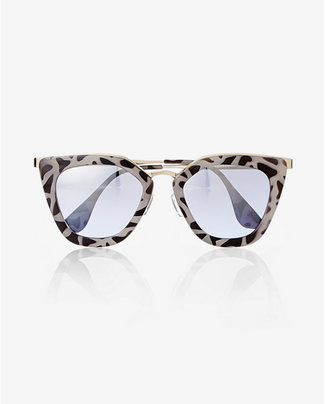 Express Printed Cat Eye Sunglasses $29.90 thestylecure.com