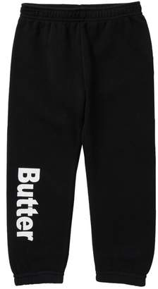 Butter Shoes Super Soft Solid Fleece Varsity Pants (Little Girls)