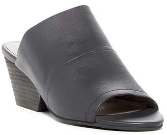 Eileen Fisher Juju Peep Toe Leather Mule