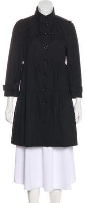 Burberry Button-Up Knee-Length Coat