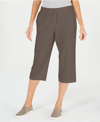 Karen Scott Knit Drawstring Capri Pants