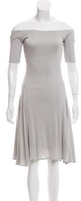 Ralph Lauren Off-The-Shoulder Silk Dress
