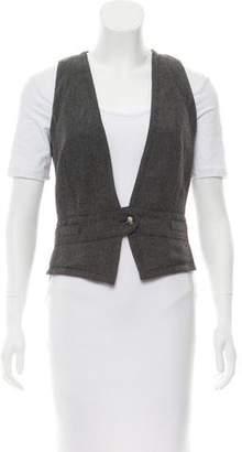 Dolce & Gabbana Herringbone Wool Vest