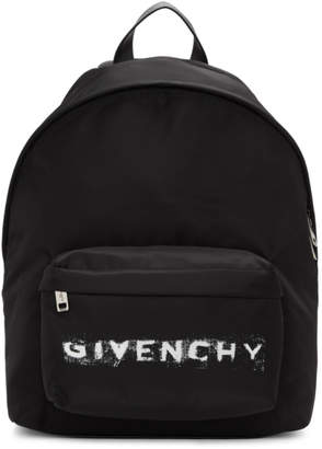 Givenchy Black Nylon Logo Backpack