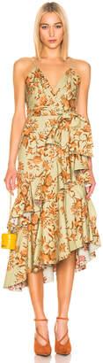 Johanna Ortiz Rhapsodie Oriental Dress in Soft Olive | FWRD