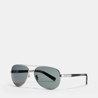 Coach Tag Temple Pilot Polarized Sunglasses $235 thestylecure.com