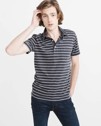 Abercrombie & Fitch Striped Burnout Polo