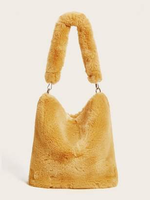 Shein Fluffy Tote Bag With Chain Strap
