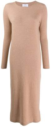 Allude long sleeved knitted dress