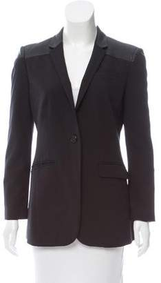 Burberry Leather-Accented Blazer