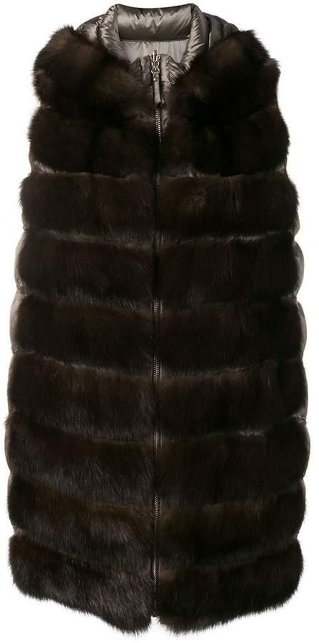 Liska padded fur waistcoat