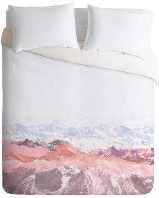Deny Designs Iveta Abolina Pastel Mountains Iii Twin Duvet Set Bedding