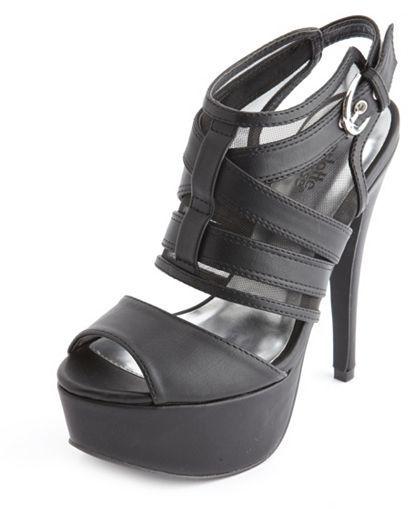 Charlotte Russe Crisscross Mesh Slingback Heel