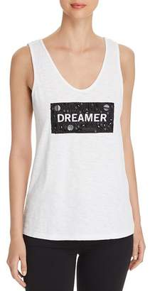 Kenneth Cole Embellished Graphic Tank