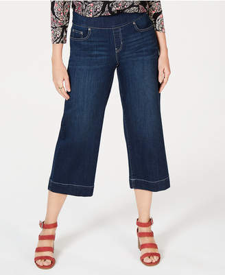 Style&Co. Style & Co Wide-Leg Cropped Pull-On Jeans